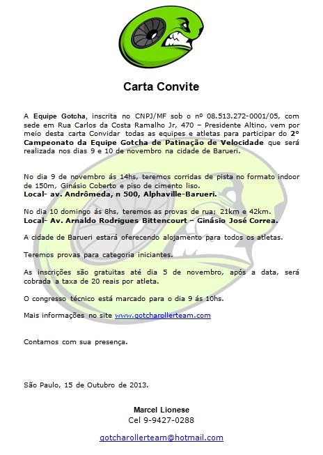 carta convite