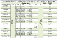 CRONOGRAM DE PROVAS 3 GOTCHA